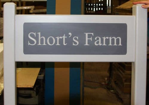Painted Hardwood  Signs with Engraved Insert   The Sign Maker Shop